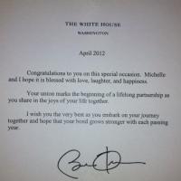 Obama' Letter of Support